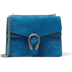Gucci Dionysus large suede shoulder bag ($2,200) ❤ liked on Polyvore featuring bags, handbags, shoulder bags, blue, suede purse, blue suede purse, suede shoulder bag, structured handbag and suede handbags