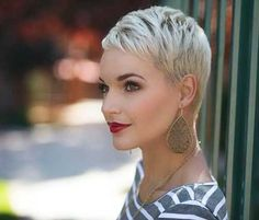 Best Platinum Blonde Pixie Short Hair More Short Blonde Haircuts Latest Short Haircuts, Short Pixie Haircuts, Pixie Hairstyles, Short Hairstyles For Women, Cropped Hairstyles, Blonde Hairstyles, Latest Hairstyles, Platinum Blonde Pixie, Short Blonde Pixie