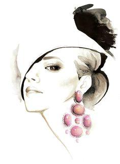 Kumiko Kikuchi #Fashion #Illustration #Make                                                                                                                                                                                 More
