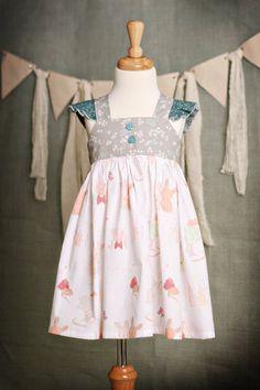Girls Littlest Bunny Spring Easter Dress by SewManyRuffles on Etsy, $38.00