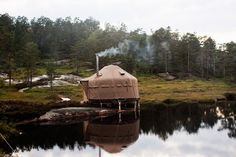 "alongthegrain: "" Yurt cabins, Norway "" ✨"