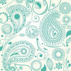 Paisley Print Pattern | Paisley pattern — Stock Vector © Danussa #3267133