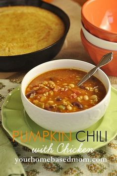 Pumpkin Chili with Chicken by yourhomebasedmom, #chili,#chicken,#pumpkin,#recipes