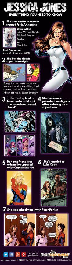 Jessica Jones Infographic #marvel #superheroes #infographics