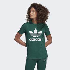 e98965c19c6 adidas Trefoil Tee - Green   adidas US Shirts, Tees, Adidas Women, Logos