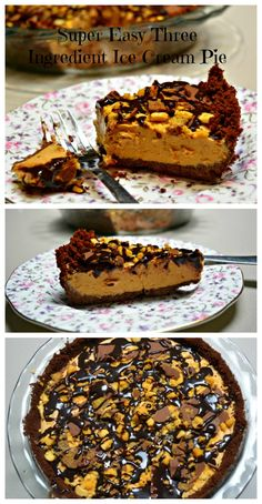 Salted Caramel Chocolate Pie from pinkpostitnote.com
