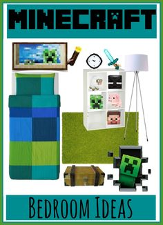 Minecraft Bedroom Decorating Ideas - My son would LOVE this room! Check out http://minecraftfamily.com/ for cool new Minecraft stuff!