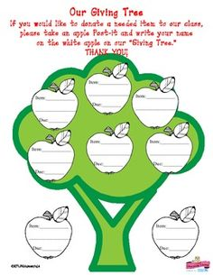 Printables The Giving Tree Worksheets the giving tree lesson plans shel silverstein trees ojays donation chart