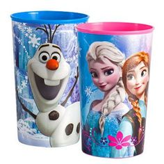 Disney Frozen Plastic Character Cups, 22 oz. (Set of 2)