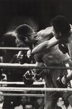 "Ali.....This is the punch that sent George Foreman sprawling to the canvas in the 8th round. The ""Rumble in the Jungle"" was the fight that Muhammad Ali deployed his famous Rope-A-Dope strategy (allowing big George to punch himself out)...the rest is history."