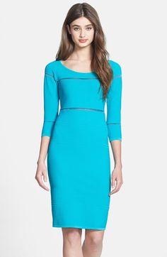 Nicole Miller Illusion Inset Bandage Knit Dress | Nordstrom