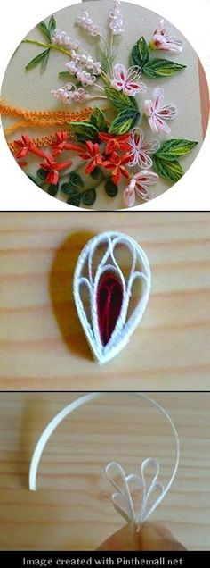 (Part 1 of 2)---written directions on post---http://ajourneyintoquilling.blogspot.com/2013/02/quilling-tutorial-new-petal-design-how.html