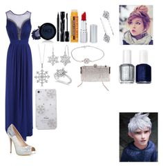 """Jack Frost-Evening Wear-Special Series"" by disneybound-fashion ❤ liked on Polyvore featuring Jane Norman, Disney, FACE Stockholm, Stila, Shiseido, Burt's Bees, HoneyBee Gardens, 1928, Essie and BERRICLE"