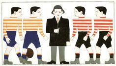 1913 - Leck, Bart van der – Voetballers en scheidsrechter