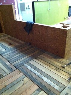 349 best Pallet Flooring images on Pinterest in 2018   Crates  Diy     Wood Pallet floors cool idea for a rustic cottage