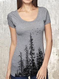 a3bf864f Pine Tree Forest Pine Trees Forest, Long Sleeve Shirts, Organic Cotton, T  Shirts