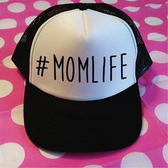 MOMLIFE Trucker Hat. Momlife Hat. Mom Life Trucker. by SoPinkUK