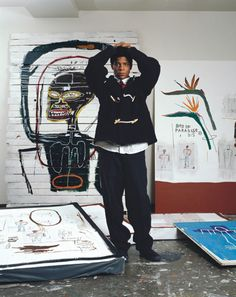 """Basquiat. from article: """"The 50 Most Stylish Men of the Past 50 Years."""" photo by Birds of Paradise Lizzie Himmel"""