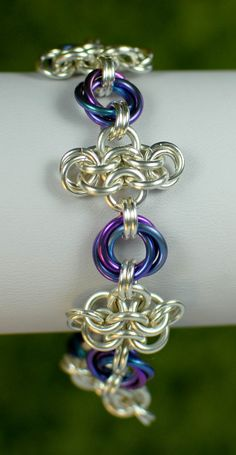 Sterling Silver and Twilight Chainmaille Rosette by DaisiesChain