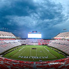 Largest video board in all college stadiums lights up the sky. War Eagle!