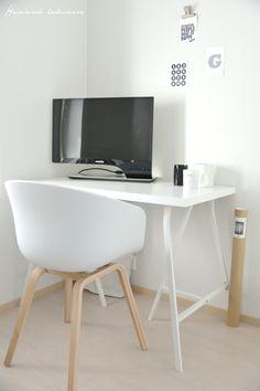 Heinässä heiluvassa: Uusi työpiste Home Office, Office Desk, Ikea, Furniture, Home Decor, Desk Office, Decoration Home, Desk, Ikea Co