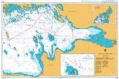 British Admiralty Nautical Chart 2264: Baltic Sea, Gulf of Finland, Eastern Part