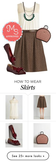 """""""Mentor of Attention Skirt"""" by modcloth on Polyvore featuring But Another Innocent Tale, outfit, modcloth and modstylist"""