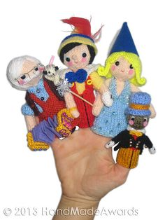 Ravelry: Pinocchio Finger Puppets pattern by Loly Fuertes