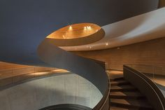 The Customer Information Centre and Event Forum PANEUM – Wunderkammer des Brotes - for the company Backaldrin in Asten consists of two. Staircase Railings, Spiral Staircase, Stairways, Schmidt, Base Building, Concrete Facade, Event Room, Himmelblau, House Stairs