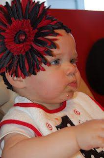 Lady's Makes and Bakes: Gwyneth's 1st Birthday Ladybug Bash- Ladybug headband