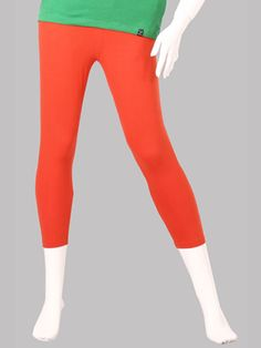 Twin Birds Coral Flame Woman 3/4 Leggings