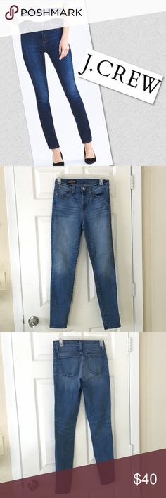 "•JCREW• High Rise Skinny With a waist slimming high rise and a skinny stretch fit, these jeans will hold you in while lengthening your legs! • 30"" inseam • 92% cotton • 6% polyester • 2% spandex no trades no modeling J. Crew Jeans Skinny"