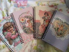 Notizblöcke - Nostalgie Notiz-Rezept-Schreib-Adress-Tagebuch - ein Designerstück von monaspuppenstube bei DaWanda