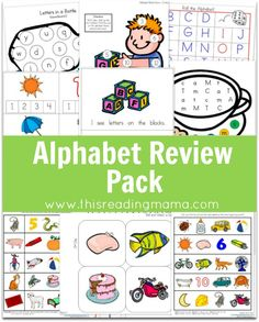 FREE Alphabet Review Pack from This Reading Mama