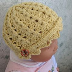 Crochet Pattern Infant-Toddler Spiral Ribbed Hat ePattern EASY TO MAKE | studio7designs - Patterns on ArtFire