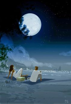 """Mid night pic nic"" , pascal campion: April 2015"