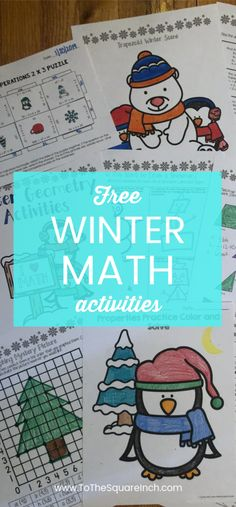 Free winter math activities- math resolutions, geometry, order of operations, number properties Math Classroom, Classroom Activities, Number Properties, Spiral Math, High School Activities, Math Challenge, Order Of Operations, Secondary Math, Spiral Notebooks