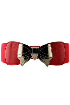Metal Bowtie Red Belt #fashion