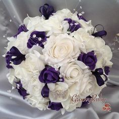 Cadbury Purple & Ivory Butterfly Crystal