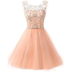 Belle House Women's Short Tulle Beading Homecoming Dress Prom Gown HAJ032