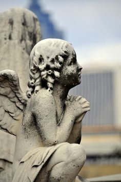 Oakland Cemetery angel……YOUNG ANGEL CHILD………..ccp