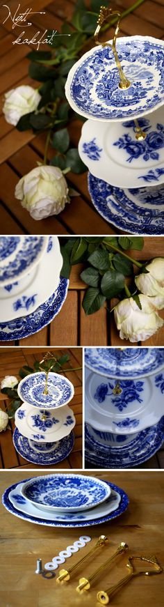 DIY cake dish by Kreativ inredning. I am totally doing this. My mom has tons of these plates in the attic!!