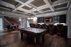 Games room in large basement remodel, Ellicott City, MD