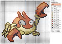 Birdie Stitching Pokemon Pattern - 98 Krabby