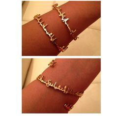 calligraphy bracelet