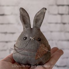 Primitive bunny rabbit doll~ HAREball Hopper (c) designed and created by Robin Seeber~ all copyrights reserved.