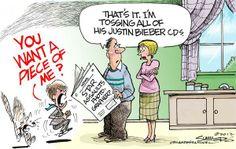 Spotprent Justin Bieber