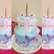 Baby Girl Birthday 7th Ideas Majestic Unicorn Mermaid Cakes Parties Party Birthdays Tips