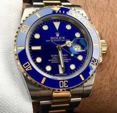 The Bluesy Submariner Sport Watches, Watches For Men, Rolex Submariner Blue, Rolex Oyster Perpetual, Men's Collection, Luxury Branding, Rolex Watches, Mens Fashion, Stuff To Buy