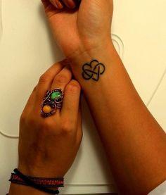 Heart infinity tattoo @April Cochran-Smith Cochran-Smith Cochran-Smith Cochran-Smith Haggett bff tats